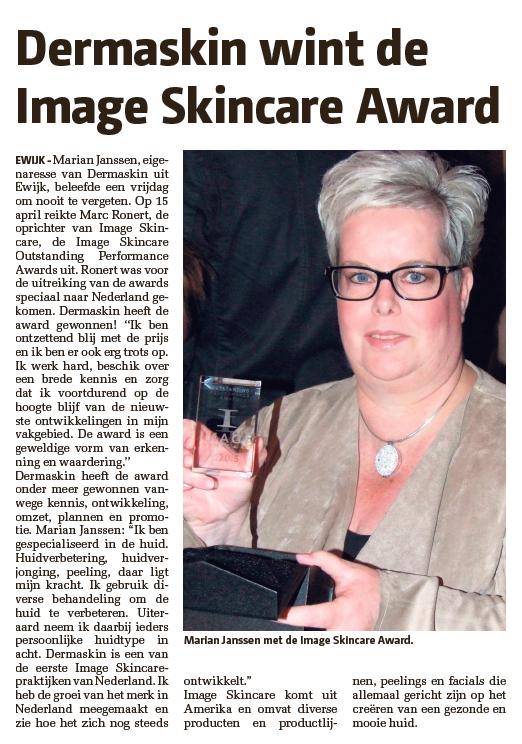 Dermaskin wint Image Skincare award