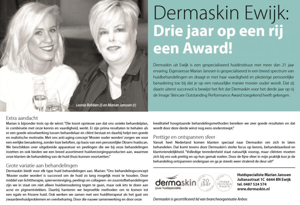 Dermaskin Image Skincare Award 2018